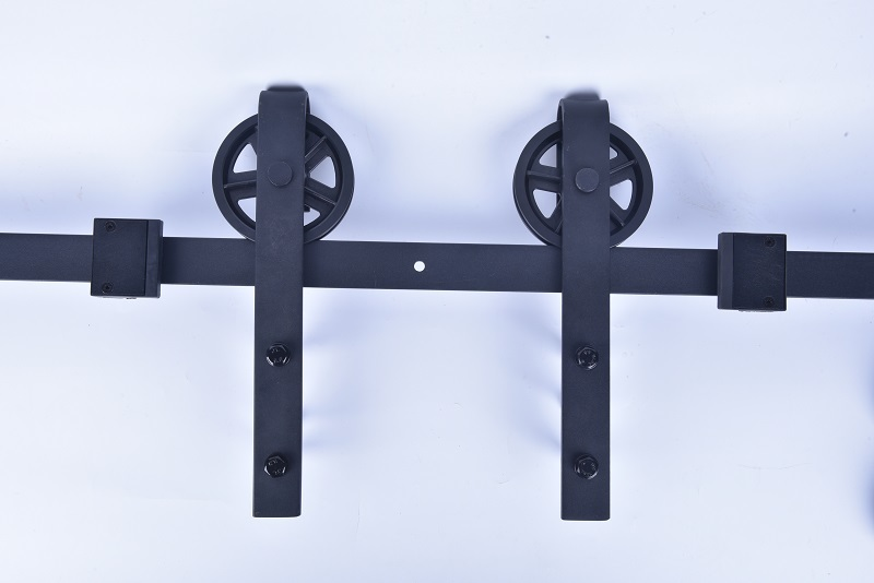 Black Carbon Steel Sliding Door Rail