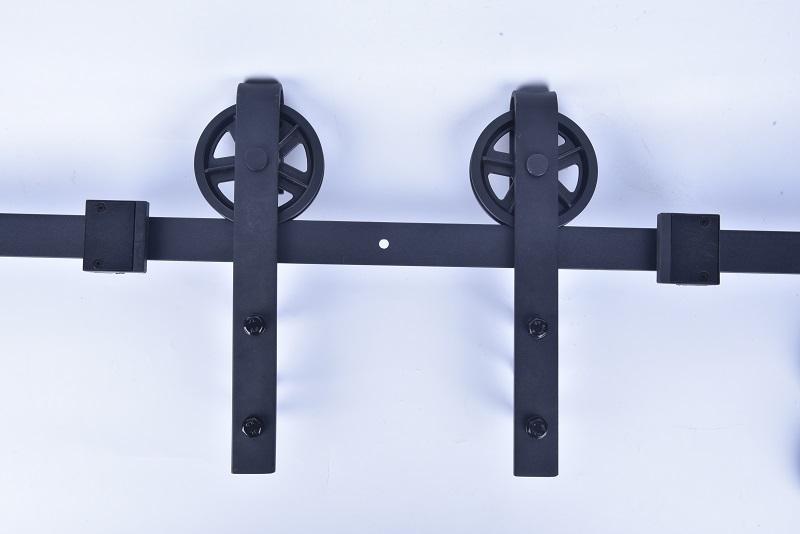 Black Carbon Steel Sliding Door Rail